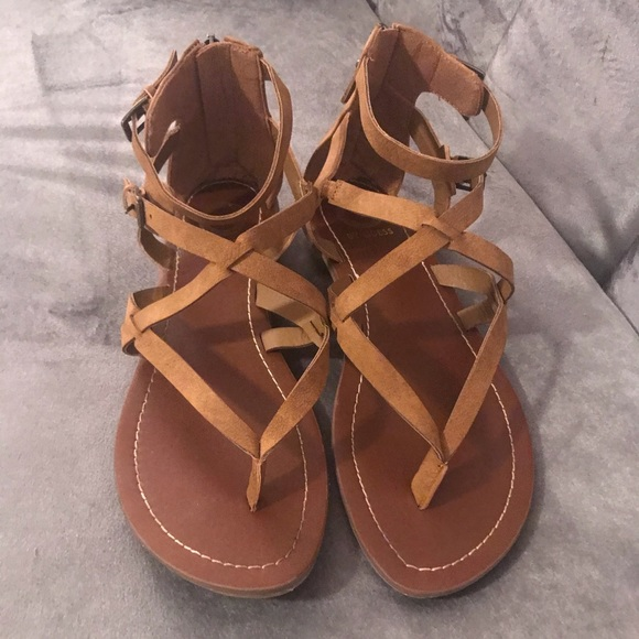 G By Guess Brown Howy Gladiator Sandal